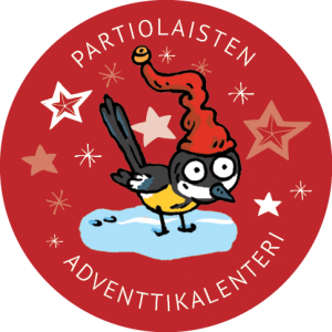 Partiolaisten adventtikalenteri-logo
